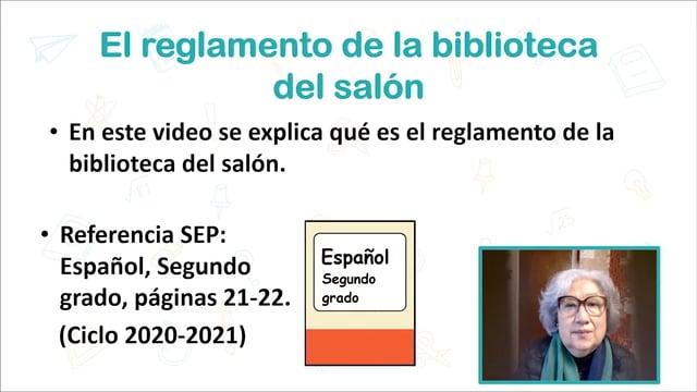 El reglamento de la biblioteca